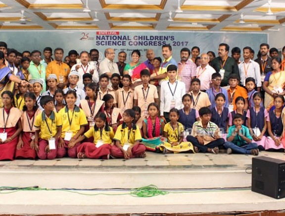 25th National Children's Science Congress 2017 at Sathyabama Univeristy