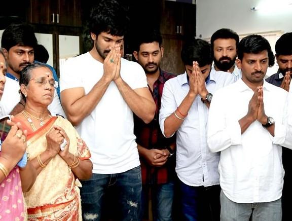 Aadhi's new movie pooja