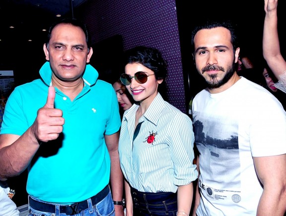 Azhar Movie Team at Cream Stone Ice Cream Outlet