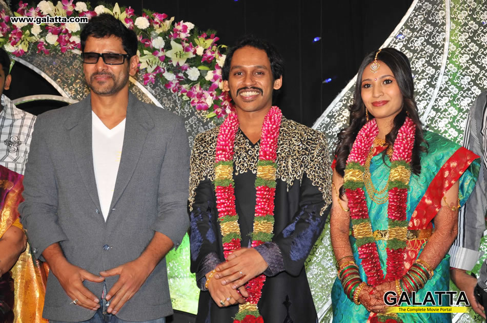 Celebrities At Actor Kishore Ambika Wedding Reception Tamil Event