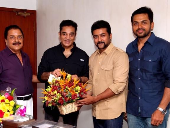 Celebrities wish Chevalier Kamal Haasan