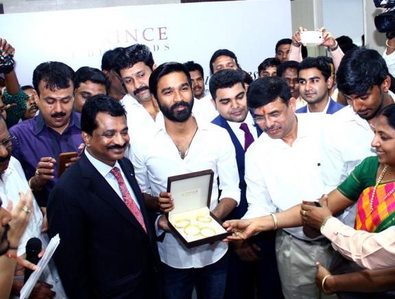 Dhanush inaugurates Prince Jewellery showroom at Coimbatore