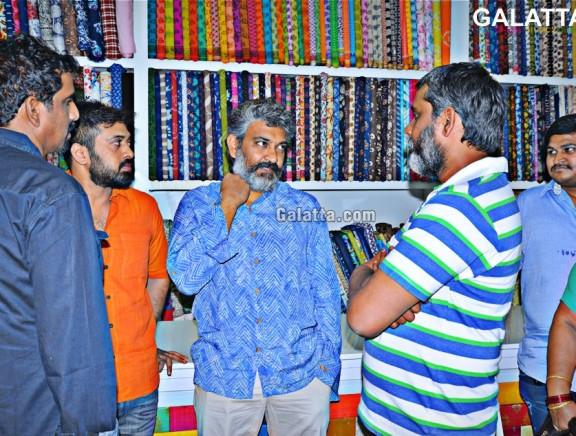 Director SS Rajamoul at Krishna Shop inauguration