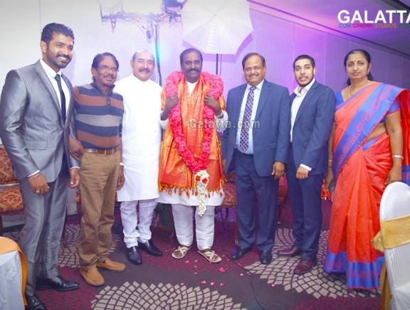 Dr. Vijayakumar honored by PG Periasamy for his honorary doctorate