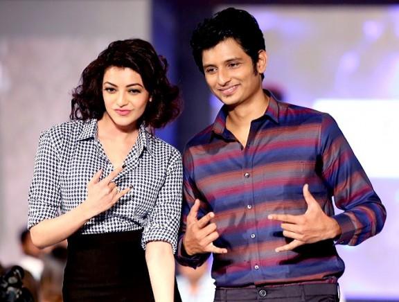 Jiiva and Kajal Aggarwal walk the ramp for Anams Man & Barakah Spring Summer 2016 Collection Fashion Show