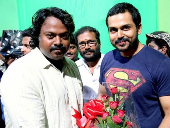 Karthi celebrates his birthday with Kaashmora team