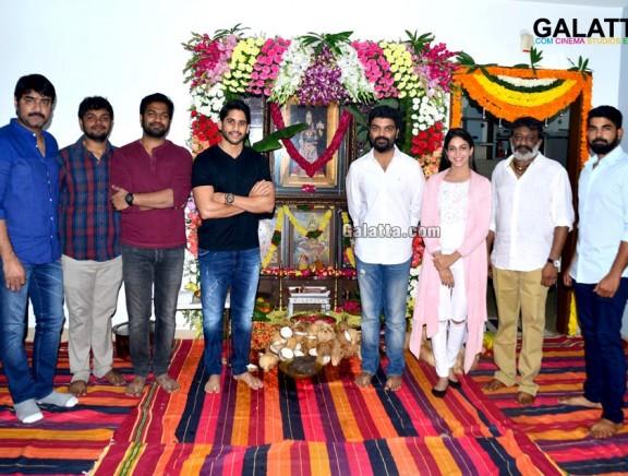 Naga Chaitanya and Lavanya Tripathi New Movie Pooja