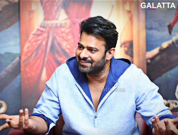 Prabhas during an interview for Baahubali 2