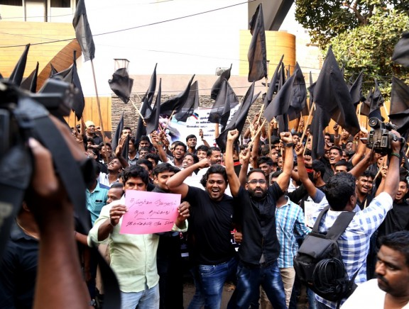 STR protest for Jallikattu