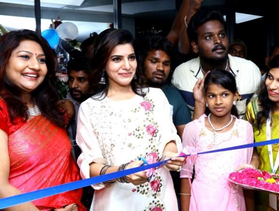 Samantha inaugurates V Care Hair Clinic at Madurai