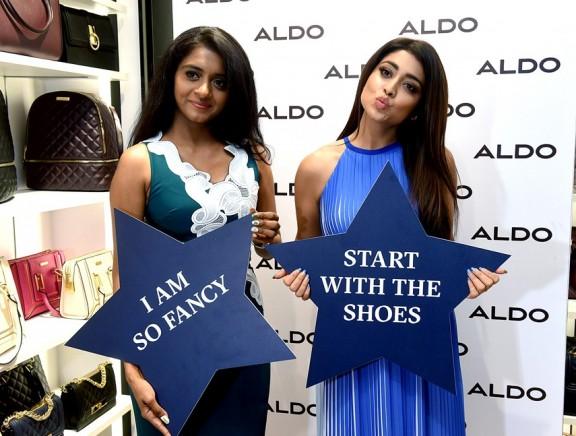 Shriya Saran at ALDO store launch at Express Avenue