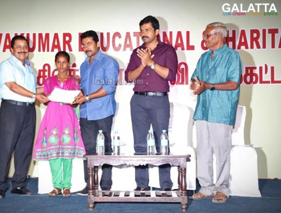 Suriya, Karthi at Sri Sivakumar Educational Trust 38th Year Award Ceremony