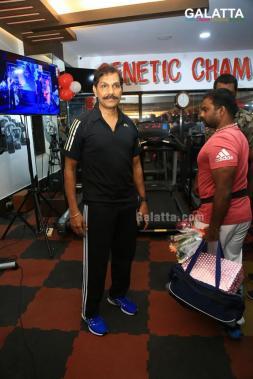 Varalakshmi sarathkumar at genetic champions gym inauguration