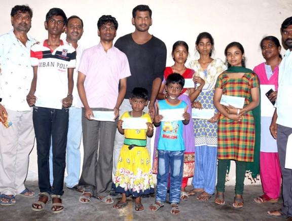 Vishal helps poor students