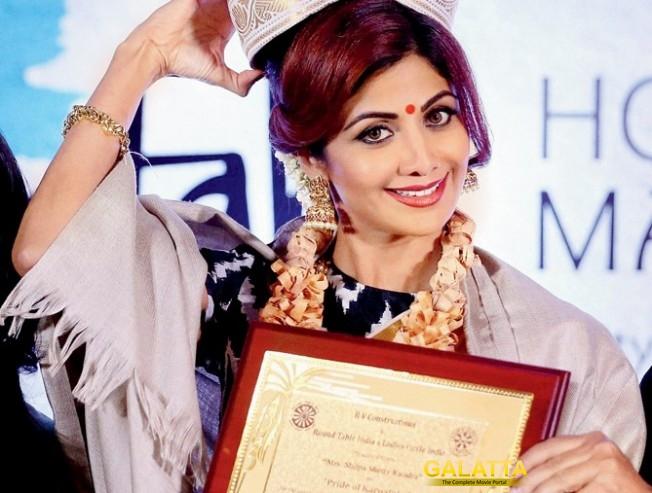 Shilpa Shetty wins Karnataka Pride Award
