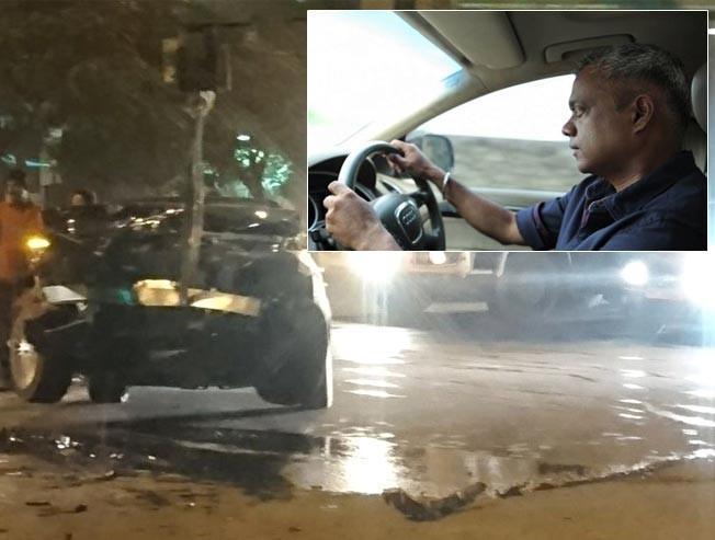 Gautham Menon escapes a huge accident!