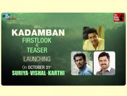Vishal, Suriya and Karthi for Kadamban teaser