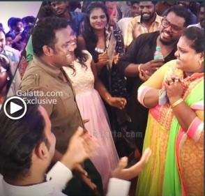 RoboShankar and family shake a leg at Sandy's wedding reception