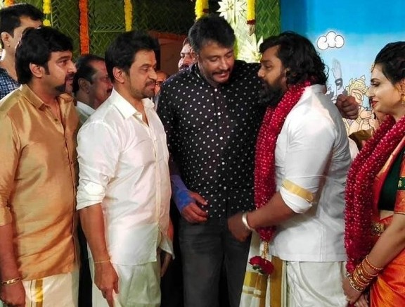 Actor Dhruva Sarja And Prerana Shankar Engagement