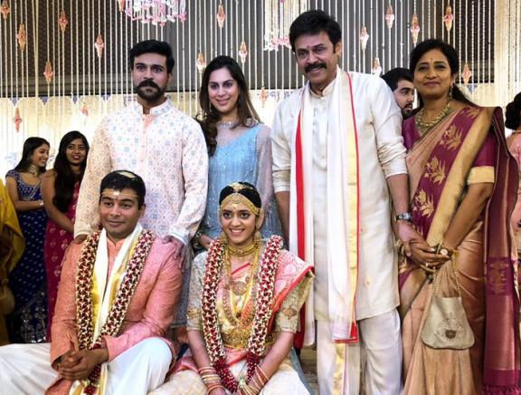 Actor Venkatesh daughter Ashritha wedding
