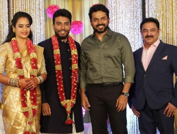 Actress Suja Varunee and Shiva Kumar Wedding Reception