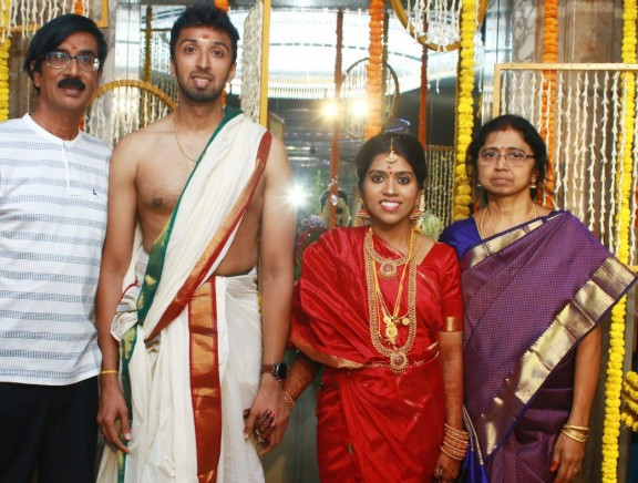 Director Manobala Son Harish and Priya Wedding