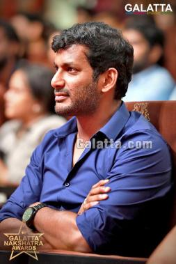 Vishal at Galatta Nakshatra Awards 2018