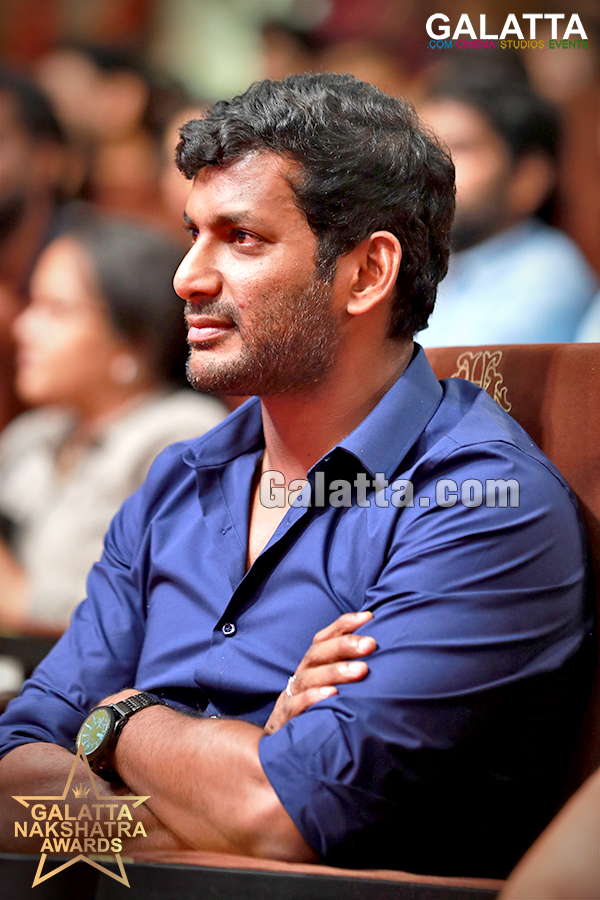 Vishal at the Galatta Nakshatra Awards 2018