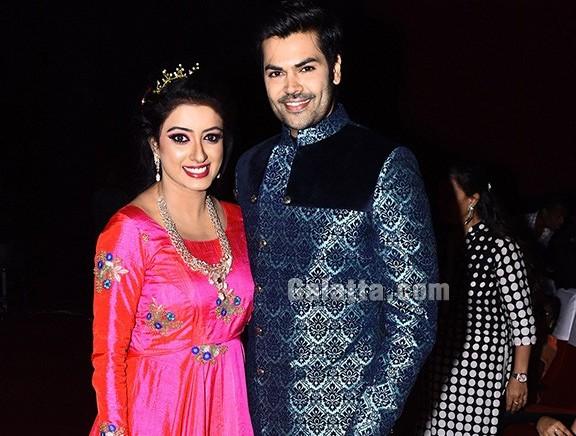 Ganesh Venkatram & Nisha walk the ramp at Viswa and Devji's fashion show