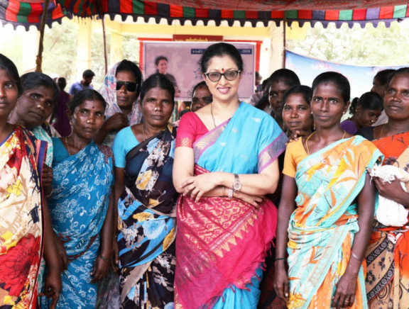 Gauthami celebrated Women's day with Village women.