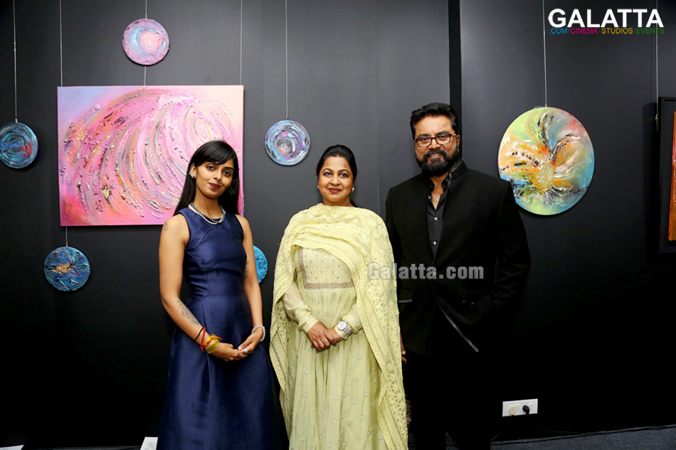 Inauguration Stills of Singing Colours Painting by Malvika Jey - Initiated by Agile