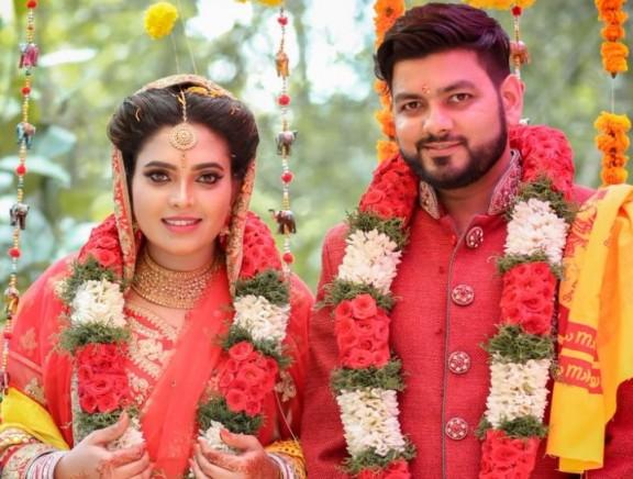 Ishara Nair and Sahil Wedding