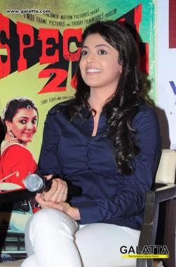 Kajal Aggarwal and Akshay Kumar in Special 26 promotions at