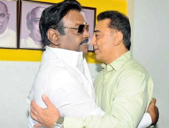 Kamal Haasan meets Vijayakanth