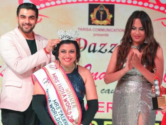 Priyadarshini Rajkumar was crowned Dazzle Mrs India World Classic 2018