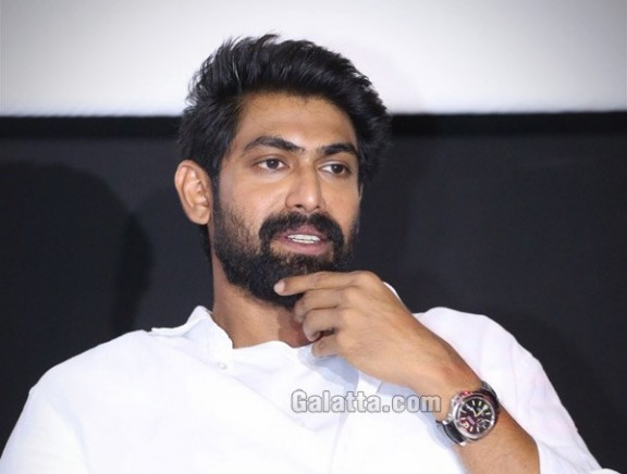 Rana Daggubati during an interview for NeneRaju Nene Mantri