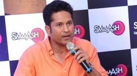 Sachin Tendulkar at Smaaash Hyderabad Hit Your Play