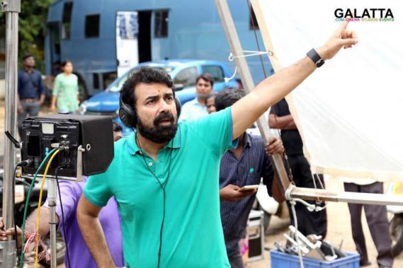 Rajiv Menon at Sarvam Thaala Mayam shooting spot