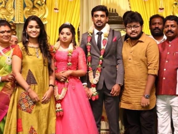 Singer Saisharan at Eneyan - Sangeetha Wedding Reception