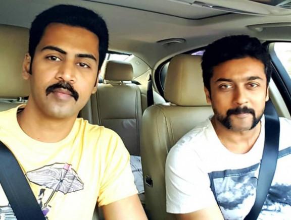 South Indian Celebrities Selfies Inside Car