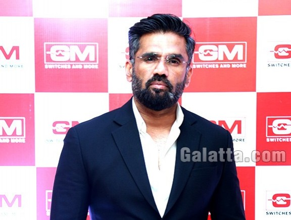 Suniel Shetty at GM Modular press meet