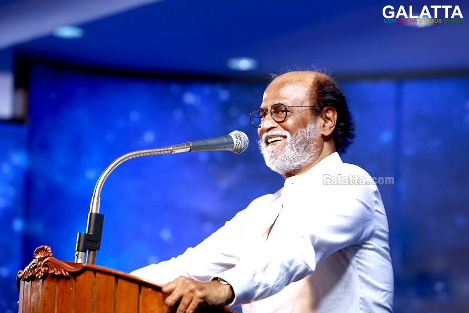 Rajinikanth speaking at fans meet