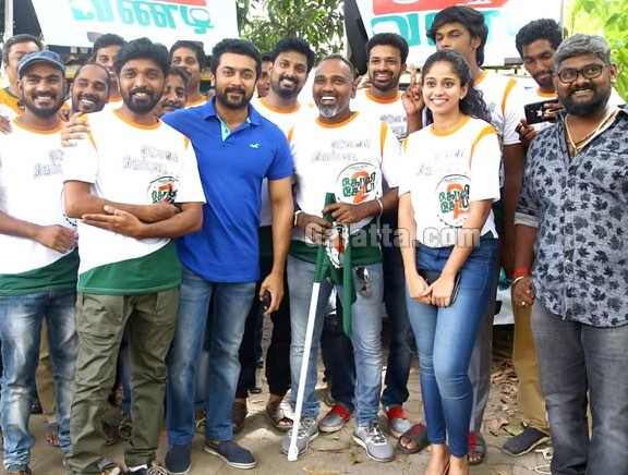 Suriya flags off GST Vandi