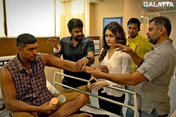 Vanamagan Sayyeshaa Jayam Ravi A L Vijay shooting spot image