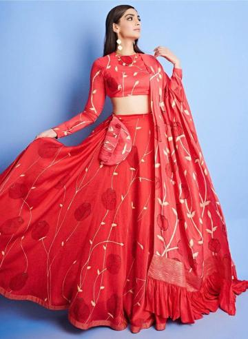 Sonam Kapoor Ahuja, who is still busy promoting The Zoya Factor, was seen in a scarlet lehenga that exudes fine taste