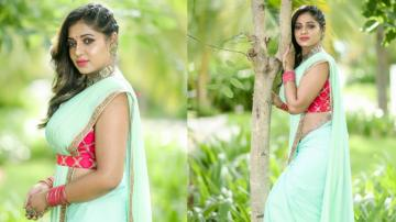 Reshma Pasupuleti looking good in the lightest shade of green
