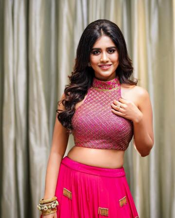 Kannada sweetheart Nabha Natesh was recently spotted in a pink lehenga from  Vaishali that is just  perfect for Diwali  - Fashion Models