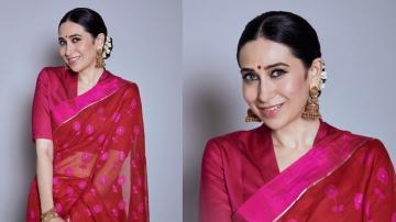 Karishma Kapoor being a day brightener in pink