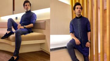 Rajkummar Rao's garbha attire is dashing