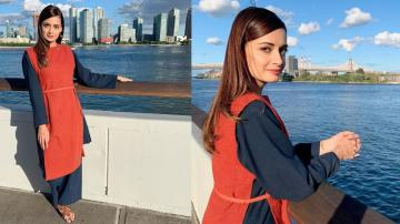Dia Mirza ready for a day of work in this multicolour outfit